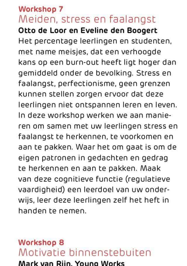 Meiden stress en faalangst